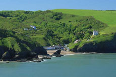 Llangrannog from sea