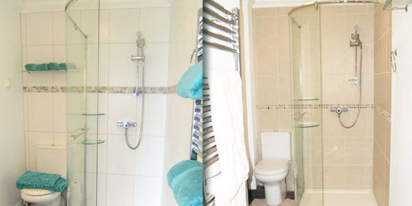 Holiday cottage shower rooms
